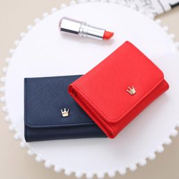 $enCountryForm.capitalKeyWord Australia - Wallet Women 2019 Lady Short Women Wallets Crown Decorated Mini Money Purses Small Fold PU Leather Female Coin Purse Card Holder