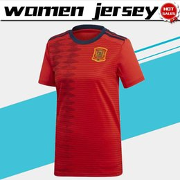 Discount soccer shirts spain - Women Jerseys 2019 World cup Spain Home Soccer Jersey 19 20 Lady's soccer shirt spain home red Soccer Shirt Women F