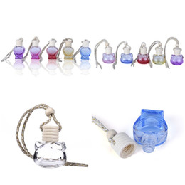 scent bottle pendant UK - 8ML 10ML Clear Glass Cosmetic Beauty Perfume Refillable Car Hang Bottles,Pendants Decorations Scent Package Gifts F2380