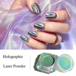 Wholesale Metal Holographic Laser Powder Nail Glitter Chrome Chameleon Rainbow Glitter Powder Manicure Gel Polish electroplate Glitter Dust