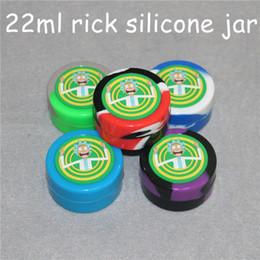 $enCountryForm.capitalKeyWord Australia - Nonstick wax containers silicone box rick design 22ml silicon container food grade jars dab tool storage jar oil holder for vaporizer vape