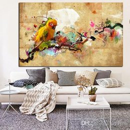 modern animal oil painting Australia - Parrot Bird Handpainted & HD Print Modern Abstract Animal Art oil painting Wall Art Home Decor On High Quality Canvas .Multi sizes a78