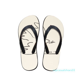 picasso arts UK - Summer Beach Flip Flops Women Slippers Sandals Painting Art Print Lady Flats Shoes Designer Pablo Picasso Artist master piece t03