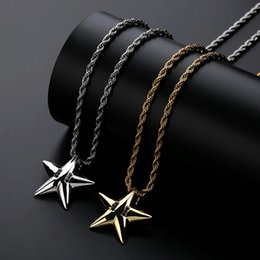 Western Chain Australia - hip hop star diamonds pendant necklaces for men western luxury 18k gold plated pendants copper zircons cuban chain necklace jewelry gift