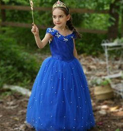 Wedding Cupcakes Blue Australia - 2019 Royal Blue Ball Gown Girls Pageant Dresses Off Shoulder Tulle Floor Length Toddler Birthday Dresses Party Dresses Cupcake