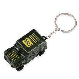 $enCountryForm.capitalKeyWord Australia - PUBG Keychain Playerunknown's Battlegrounds Metal Green jeep car Metal Key Chain Ring Holder Chaveiro Game Jewelry free shipping