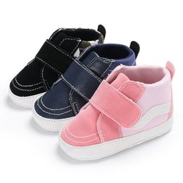 newborn shoes brands 2019 - 2019 Brand New Newborn Shoes Infant Toddler Baby Boy Girl Spring Autumn Soft Bottom Canvas Shoes Casual Walkers Newborn