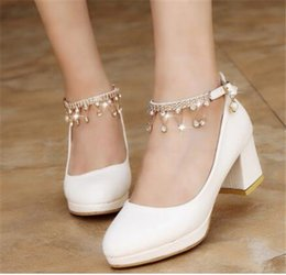 BaBy pink wedding dresses online shopping - 2020 gifts Bride Shoes Luxury Design Glittering Crystal Tassel Baby Pink Sandals Wedding Party Women Dress Fashion Shoes cm High Heels