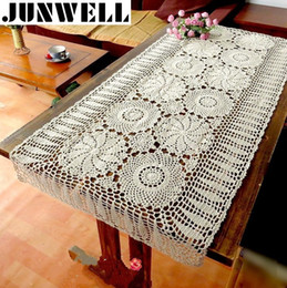 $enCountryForm.capitalKeyWord NZ - 100% Cotton Handcraft Crochet Tablecloths Shabby Vintage Crocheted Tablecloth Handmade Piano Cover Cotton Lace Y19062103