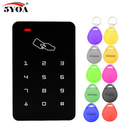 Rfid Reader Wall Australia - B09 Standalone Access Controller with 10pcs EM keychains RFID Access Control Keypad digital panel Card Reader For Door Lock System