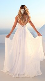 $enCountryForm.capitalKeyWord Australia - 2019 Halter Lace Top Sexy Backless Beach Prom Dresses Cheap White Colors In Stock Sexy A Line Evening Gown Boho Dresses
