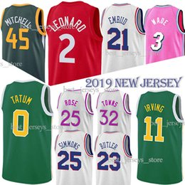29bbff15c 3 Wade 21 Embiid 11 Irving 45Mitchell 25 Simmons 25 Rose Basketball Jerseys  Christmas shirt 2019