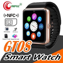 $enCountryForm.capitalKeyWord Australia - Best selling Smart Watch GT08 Clock With Sim Card Slot Push Message Bluetooth Connectivity Android Phone Smartwatch GT08 20pcs lot
