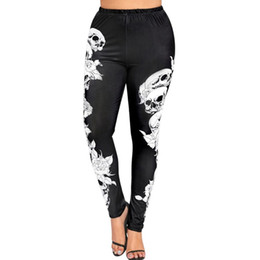 $enCountryForm.capitalKeyWord NZ - Womail 2019 Women High Waist Yoga Sport Pants Plus Size Monochrome Skulls Leggings Workout Running Tights Compression Trouser #297622