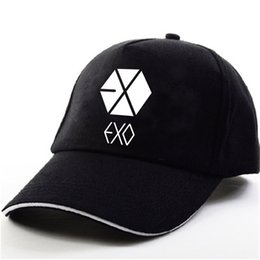 $enCountryForm.capitalKeyWord NZ - YOUPOP KPOP EXO THE WAR Wolf EXACT EXODUS Album Baekhyun Chanyeol Black Baseball Cap Hip-hop Cap Men Women Hats