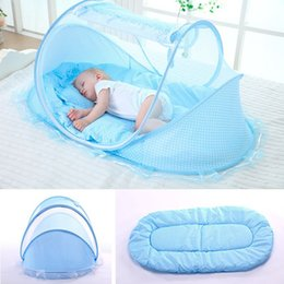 Discount portable baby travel cribs - Baby Crib Netting Portable Foldable Baby Bed Mosquito Net Mattress Newborn Sleep Bed Travel Netting Play Tent Children