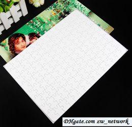 Venta al por mayor de CALIENTE A4 rompecabezas de sublimación en blanco 120 piezas Prensa de calor Transferencia térmica Artesanía DIY Blanco Puzzles para sublimación impresión de fotos