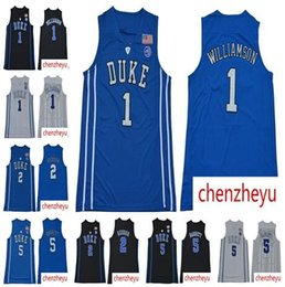 2019 men s NCAA Duke Blue Devils Jersey 1 Zion Williamson 5 RJ Barrett 2  Reddish Royal Blue Black White College Basketball Jerseys e0ae6e12f