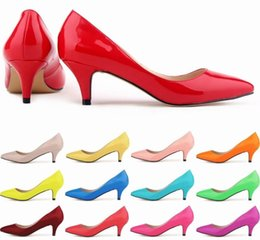 $enCountryForm.capitalKeyWord Australia - With box Fashion designer women shoes red bottom high heels Nude black red pink Leather Pointed Toes Pumps Dress shoes