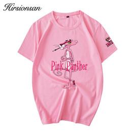 Orange Pink Shirt Australia - Hirsionsan 2018 Summer T Shirt Women Harajuku Pink Panther Cartoon Printed T-shirts Casual Cotton Short Sleeve O-neck Women Tops J190427