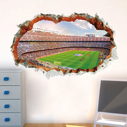 Soccer Decorations For Bedroom Australia - 3d vivid Football Soccer wall stickers for kids rooms living room bedroom wall decals boys room decoration