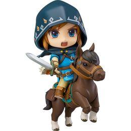 Link Action Figures NZ - Good Smile Nendoroid Link Zelda Figure Breath of the Wild Ver DX Edition Deluxe Version Action Figure