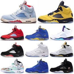 $enCountryForm.capitalKeyWord NZ - Fab 5 SP 5s Men Basketball Shoes TROPHY ROOM Laney Olympic Metallic Gold Fresh Prince Suede Wings Mens Trainers Sports Sneakers 7-13