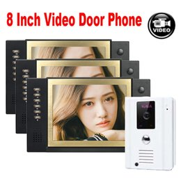"""System Cards Australia - XINSILU 8"""" LCD Monitor Video Door Phone with Video Recording Photo Taking Home Security System IR Camera Support SD Card 1V3"""