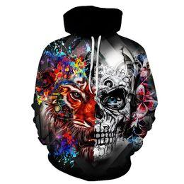Sugar Coating Australia - Sugar Skull Hoodies Men Sweatshirts Drop Ship Printed Hoodie 3d Hooded Tracksuits Unisex Pullover 6XL Casual Coat Male Hoodie