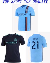 york soccer jersey Canada - 19 20 New York City Soccer Jersey MLS PARLEY Shirts DAVID VILLA PIRLO LAMPARD Football Shirts Adult's Top Thai Quality Football Jerseys