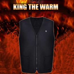 Electric Hot Warmer Australia - 2019 New Men Women Electric Heated Vest Heating Waistcoat USB Thermal Warm Cloth Feather Hot Sale Winter Jacket