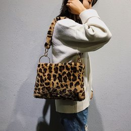 Designer Winter Faux Fur Shoulder Bags For Women 2019 Sexy Leopard Handbags  and Purses Ladies Plush Handbag Female Small Tote Bag Bloso cd01890db2b62