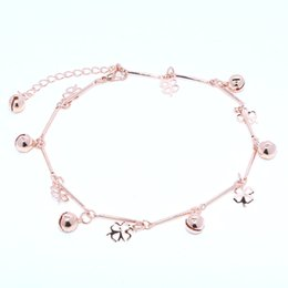 $enCountryForm.capitalKeyWord Australia - 10pcs Wholesale Foreign Trade Beach Ladies Anklet Foot Accessories Metal Chain Trend Fashion Four-leaf Clover Female Feet Bare Chain