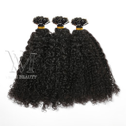 14 inch pre bonded hair extensions NZ - Flat Tip Single Double Drawn Custom Kinky Curly Natural Color Keratin Virgin Human Hair Extensions 1g s 100s Pre-bonded 14 to 26 Inch