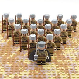 Block Build Australia - 21pcs set Ww2 Blocks Soviet Toys Soldiers yummy Of Russia Troops Military Designer Building Constructor Bricks For Children Y190606