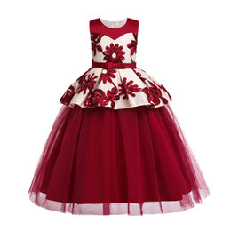 $enCountryForm.capitalKeyWord Australia - Lace flower girl dresses for wedding kids designer clothes girls princess dress long girls dress party kids dresses big kids clothes A6739