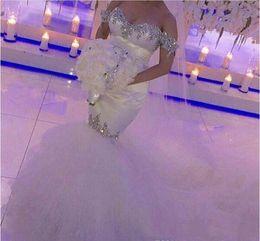 Wedding Dresses Ribbon Size Australia - 2019 Off Shoulder Wedding Dress Unique Mermaid Applique Beading Garden Bridal Gown Custom Made Plus Size
