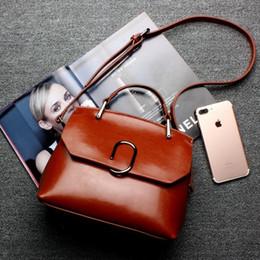 $enCountryForm.capitalKeyWord Australia - Lucky2019 Leather Genuine Oil Wax Woman Will Capacity Single Shoulder Satchel Package