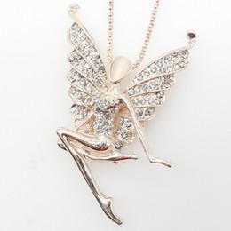 moins cher cristal strass fée papillon ange aile charmes pendentifs collier chaîne bijoux