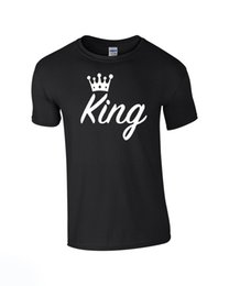 """$enCountryForm.capitalKeyWord UK - KING QUEEN CROWN T-SHIRT TOP TEE LOVE COUPLES MATCHING GIFT UK """"HIGH QUALITY"""""""