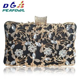 4cbf450e56cfb Fashion Hollow Out Metallic Floral Women Imperial Horse Small Wallet Call  Phone Package Lady Evening Clutch Bags