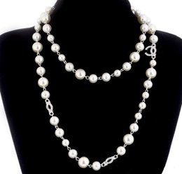 Discount new gift - 2019 New Long Sweater Chain Collar Maxi Necklace Simulated Pearl Flowers Necklace Women Fashion Jewelry Bijoux Femme Chr