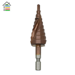 "$enCountryForm.capitalKeyWord Australia - Tools Drill Bit HSS-Co Cobalt Spiral Grooved Step Drill Bits 1 4"" Hex Shank Wood Metal Cone Drilling 4-22 3-12mm 4-12mm Hole Saw M35"