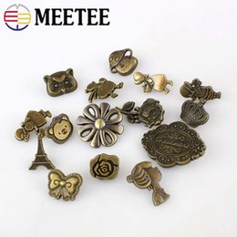 crafting buttons Australia - Solid Brass Metal Snap Button Snap Fastener Wallet Decorative Buttons Sewing Press Studs DIY Leather Craft