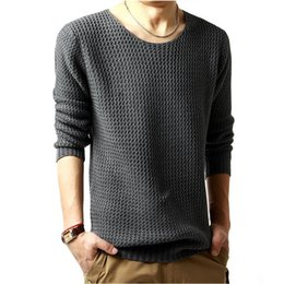 Crochet Sweater Xl Australia - T-bird Brand Clothing Men 2017 Fashion Sweater Simple Solid Color O-neck Slim Fit Casual Pullover Men Sweaters Knitting Mens Xxl T190618