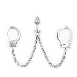 $enCountryForm.capitalKeyWord Australia - Anal Sex Toys For Women Metal Anus Butt Plug Hand Wrist Cuffs Bondage Slave Restraints Adult Products Couples Flirting Games