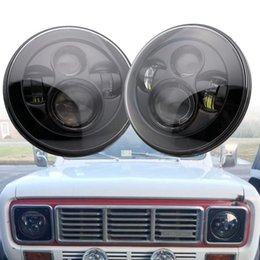halo headlamps UK - 7inch Round Led Headlight High Low Beam Light Halo Angle Eyes DRL Headlamp For JeepLadaJK TJ Wrangler