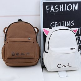 Brown Bear Backpack Australia - Women Harajuku Style Long Ears Rabbit Cute Cat Brown Bear Backpack Student School Bag Travel Backpack Fa$b Women Bag