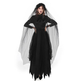 vampire costumes for women 2020 - Halloween Zombie Vampire Cosplay Costume for Women Amazing Carnival Fancy Party Dress Up Outfit Plus Size cheap vampire