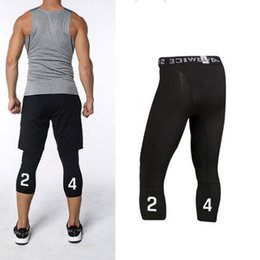 $enCountryForm.capitalKeyWord Australia - Compression Basketball Tights Pants New 2019 Sports Training Pants 3 4 Running Leggings Men Fitness Running Leggings Plus Size